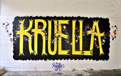 KRUELLA D'ENFER http://www.widewalls.ch/artist/kruella-denfer/ #street #art