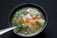 YUMMY TUMMY: Vegetable Clear Soup Recipe / Veg Clear Soup Recipe Use arrowroot flour or tapioca starch to make paleo Veg Clear Soup Recipe, Clear Vegetable Soup, Vegetable Soup Recipes, April Recipe, Side Dishes For Chicken, Mixed Vegetables, The Best, Healthy, Ethnic Recipes