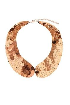 Sequinned collar, Topshop.