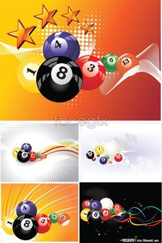 5 piece dynamic billiard background vector Garage Game Rooms, Pool Table Room, Golf Room, Magic 8 Ball, Wall Drawing, Pool Bar, Billiard Room, Room Wallpaper, Pinky Tattoo
