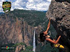 BARRANCAS DEL COBRE te dice. la zona de las barrancas cuenta con las dos más grandes cascadas de México, estas  están en la barranca de Candameña, Piedra Volada, con 453 metros, y Basaseachi, con 246. www.chihuahua.gob.mx/turismoweb