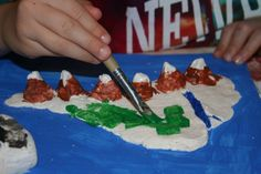 creating a salt dough map -- great educational and fun project for kids