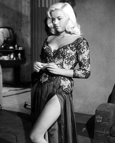 actress Diana Dors, England's response to the blonde bombshell.