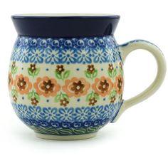 $28. Polish Pottery 12 oz Bubble Mug | Boleslawiec Stoneware | Polmedia H1652H | Polmedia