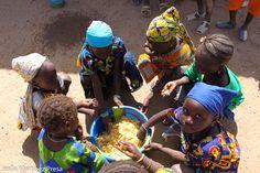 Una foto de Mali: Comida para siete.