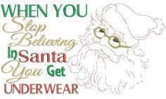 Underwear Santa 5x7