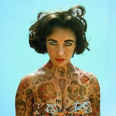 Old and comtemporary Celebrities covered in tatoos 7