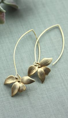 Earrings Gold Flower