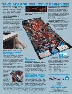The Arcade Flyer Archive - Pinball Machine Flyers: Terminator 2, Judgement Day, Williams Electronic Games, Inc. WMS