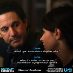 "Necessary Roughness Nico and Dani ""How do you know?"""