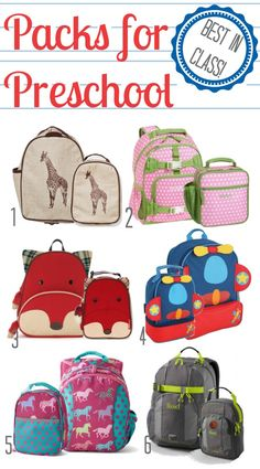 Best in Class: Packs for Preschool