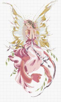 Схема вышивки «нежная фея» - Вышивка крестом