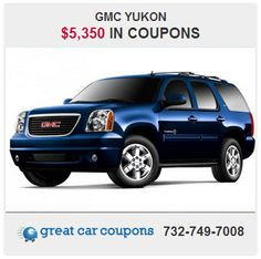 Happy #HUMPDAY everyone!! This GMC Yukon is loaded with #awesome features. There's also #coupons, too!! Want more? Visit www.GreatCarCoupons.com now for this deal and thousands more