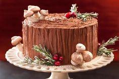 Black Forest Yule Stump Cake