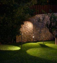 iluminar el jardín, modelo bamboo