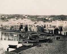 https://flic.kr/p/7hj5rB | Αποψη του λιμανιού της Μυκόνου, 1901