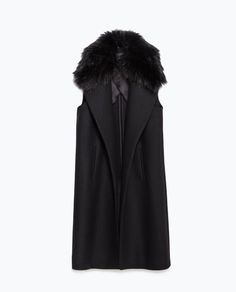 Image 8 of LONG WAISTCOAT WITH FAUX FUR COLLAR from Zara