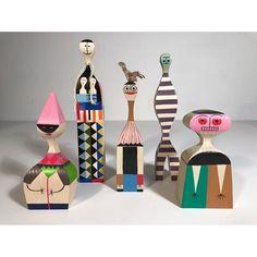 Alexander Girard folk art wood dolls #hermanmiller #vitradolls #postwarmodern #alexandergirard collection available @antiquefactory