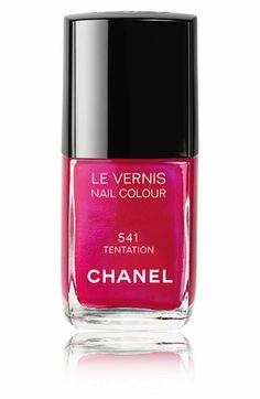 Fuchsia Pink Nail polish CHANEL  #Manicure