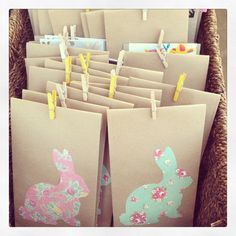 Easter gift bags - www.wrappingribbonsandpaper