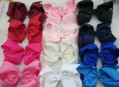 6 in Bows -  Pack of 24 Colors   Looking for cute combos to match your favorite brands like Matilda Jane , Eleanor Rose and Smocked Overstock check out www.adorableessentials. com - Adorable Essentials at Affordable Prices. #aerepabigail