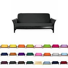 Colorful High Quality Futon Cover Slipcover Coffee Full In Sure Fit Zipper For