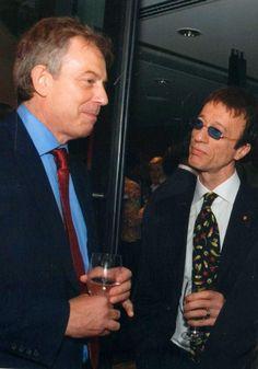 Robin with Tony Blair