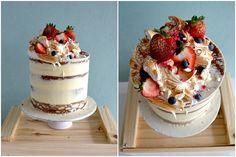 Semi Nude Cake, Citrus Flavour, Fresh Berries, Torched Meringue, Birthday Cake, Miss Ladybird