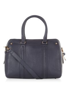 Leather Florence Structured Bowler Bag