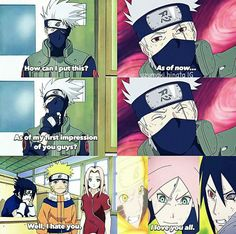 Kakashi's opinion about team 7 then n now