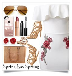 """""""Spring has Sprung!"""" by ashaleethornt ❤ liked on Polyvore featuring WithChic, Casetify, Charlotte Tilbury, Bobbi Brown Cosmetics, Chanel, Bling Jewelry, LE VIAN and Dorothy Perkins"""