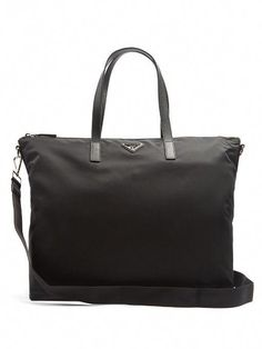 4f956589d848 PRADA Leather-Trimmed Nylon Tote.  prada  bags  tote  leather  lining   shoulder bags  hand bags  nylon    Pradahandbags