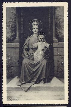 RPPC Madonna Virgin Mary with Child Mary Mother of Christ