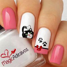 Luv Nails, Fancy Nails, Trendy Nails, Pink Nails, Animal Nail Art, Gel Nail Art Designs, Best Acrylic Nails, Dream Nails, Cute Nail Art