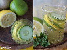 gin mit gurke zitrone und ingwersirup