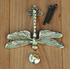 Solid Brass Dragonfly Door Knocker Heritage Casting,http://www.amazon.