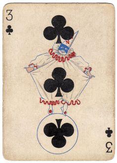 Free vintage clip art - clown card - pierrot - the graphics fairy
