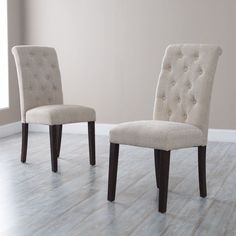 Decorate your house using parsons chairs Amazing Morgana Tufted Parsons Dining Chair - Set of 2 - Dining Chairs parsons dining chairs Dining Room Console, Parsons Dining Chairs, Tufted Dining Chairs, Fabric Dining Chairs, Dining Room Sets, Dining Chair Set, Dining Room Design, Dining Room Furniture, Table And Chairs