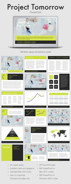 Project Tomorrow PowerPoint Template (Powerpoint Templates) Project Tomorrow Preview