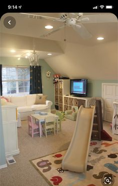 Cute playroom, but i see a couple things wrong. white couch in kids playroom… Cute playroom, but i see a couple things wrong. white couch in kids playroom…no. this playroom is too perfect. It won't be this clean in real life. Girls Bedroom, Girl Room, Bedrooms, Bedroom Stuff, Playroom Design, Playroom Decor, Playroom Ideas, Kid Playroom, Indoor Playroom