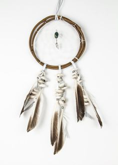 Lake of the Sky Dream Catcher from soulmakes.com. Wanna figure out how to make something like this...