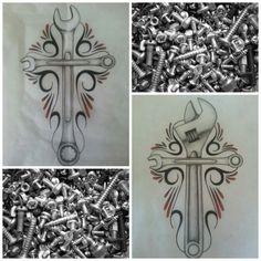 Wrench tattoo