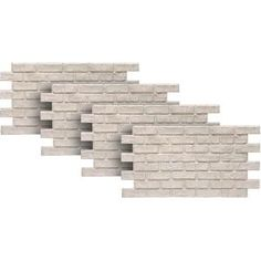 Get the look of an old reclaimed brick wall with these Urestone Lite panels. There is no need to install individual bricks, these panels interlock to create a seamless replication of the brick wall. Stone Siding Panels, Faux Stone Siding, Stone Veneer Siding, Stone Veneer Panels, Faux Brick Panels, Brick Paneling, Brick And Stone, Fake Stone, Stacked Stone Panels