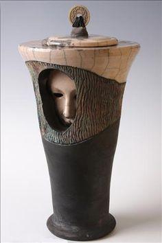 "Raku piece from ""Contained"" series. www.NitaClaise.com"