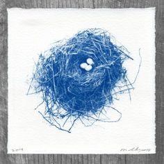 Nest & Eggs Cyanotype No. 264