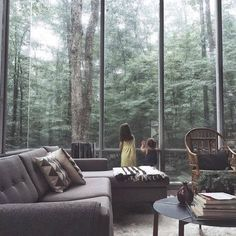 Le plus récent Instantanés mediterranean Style Architectural Stratégies Home Interior Design, Interior Architecture, Home Modern, Modern Living, Forest House, Design Hotel, Cabins In The Woods, House 2, Dream Rooms