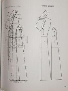 원단/짜투리/바느질/미싱/아이디어/퀼트/소잉/ | BAND Coat Patterns, Clothing Patterns, Sewing Patterns, Learn To Sew, How To Make, I Love Fashion, Fashion Design, Pattern Drafting, Jacket Pattern