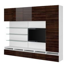 combination modern media storage by - Ikea besta wall unit ideas Media Storage, Tv Storage, Wall Mount Entertainment Center, Cheap Stores, Ikea Cabinets, Media Wall, Media Center, Cheap Furniture, Tv Stands