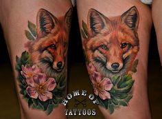 tattoo realismo Sandra Dauksta raposinha