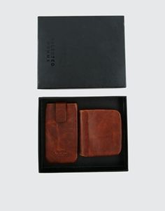 Enlarge Selected Anton Leather Coin Wallet & Phone Case Gift Set